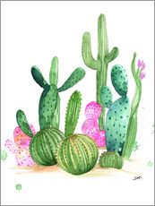 Gallery print  Cactus watercolor - Rongrong DeVoe