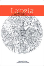 Wall sticker  Leipzig map circle - campus graphics