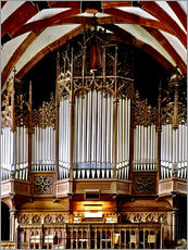 Wall sticker  Organ in St. Thomas Church, Leipzig music trail