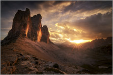 Wall sticker  Three Peaks Dolomites Sunset - Christian Möhrle