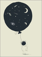 Wall sticker Space balloon