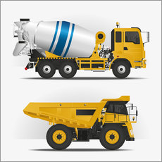 Gallery print  Construction sites vehicles - Kidz Collection