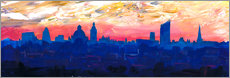 Gallery print  Leipzig Saxony Germany  Skyline at Dusk - M. Bleichner