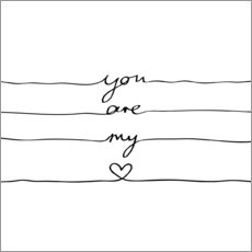 Wall sticker  You are my heart - Mareike Böhmer