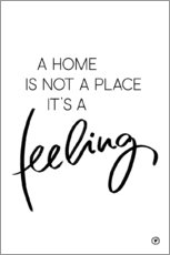 Wall sticker  A home is... - m.belle