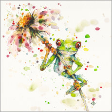 Wall sticker  Hello there, bright eyes (Green tree frog) - Sillier Than Sally
