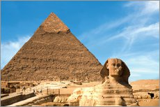 Gallery print  Sphinx in front of the Great Pyramid - Miva Stock
