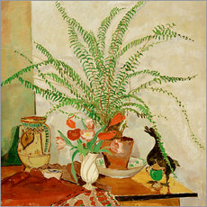 Gallery print  Still life with leaf plant - Oskar Moll