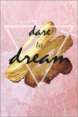 Wall sticker  Dare to Dream - Typobox