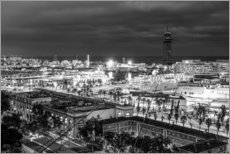 Gallery print  Beautiful view over the Port of Barcelona
