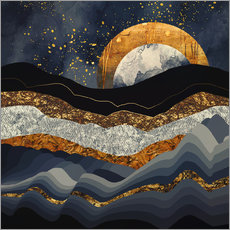 Gallery print  Metallic Mountains - SpaceFrog Designs