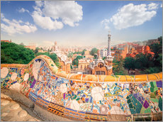 Wall sticker  The Park Guell in Barcelona
