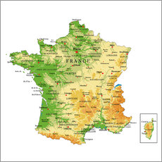 Gallery print  Map of France