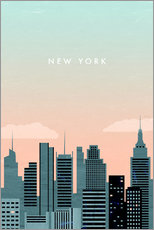 Wall sticker  Illustration of New York - Katinka Reinke