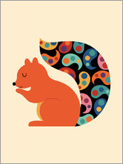 Wall sticker  Paisley Squirrel - Andy Westface
