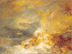 Gallery print  Fire at sea - Joseph Mallord William Turner
