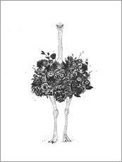 Wall sticker  Flower Ostrich - Balazs Solti