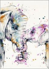 Wall sticker  That type of love (elephants) - Sillier Than Sally