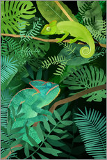 Gallery print  Chameleons in the Foliage - Goed Blauw