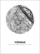 Gallery print  City map of Vienna - 44spaces