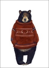 Wall sticker Mr. Bearr in Norwegian sweater