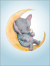 Wall sticker  Elephant in the moon - Kidz Collection