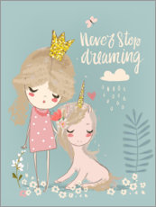 Acrylic print  Never stop dreaming - Kidz Collection
