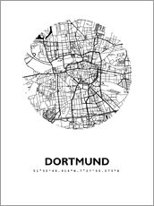 Wall sticker  City map of Dortmund - 44spaces
