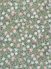 Wall sticker  Small pink and white flower - William Morris