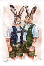 Wall sticker  Gay Rabbits - Peter Guest