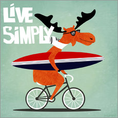 Wall sticker Live Simply