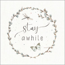 Wall sticker  Stay a while - Lisa Audit