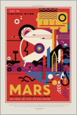 Wall sticker  Retro Space Travel, Mars
