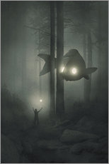 Wall sticker  Deep forest - Dawid Planeta