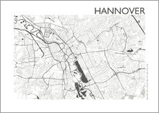 Wall sticker  City map of Hannover - 44spaces