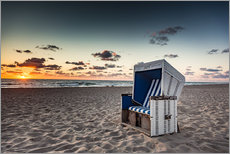 Gallery print  Beach chair on Sylt at sunset - Heiko Mundel