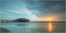 Gallery print  Sunset at the beach bar 54Grad in St.Peter-Ording - Heiko Mundel