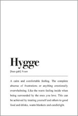 Wall sticker  Hygge Definition - Pulse of Art