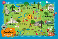 Wall sticker Colorful map of the Sauerland