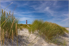 Gallery print  Lighthouse List / East with dune - Heiko Mundel