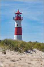 Gallery print  Striped lighthouse - Heiko Mundel