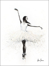 Foam board print  The white swan - Ashvin Harrison