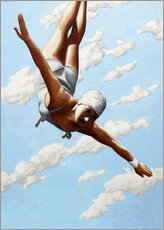 Acrylic print  Diver in the clouds - Sarah Morrissette
