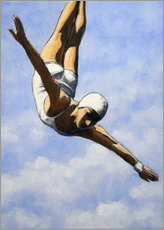 Canvas print  Diver in the clouds II - Sarah Morrissette
