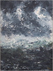 Canvas print  Storm landscape - August Johan Strindberg