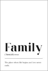 Wall sticker  Family Definition - Pulse of Art