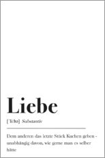 Premium poster  Liebe Definition (German) - Pulse of Art
