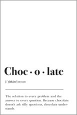 Canvas print  Chocolate Definition - Pulse of Art