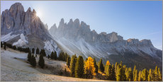 Premium poster Odle group at sunrise, South Tyrol, Italy