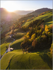 Premium poster Autumn in the valley, South Tyrol, Italy